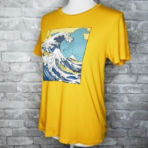 LA Hearts Massive Wave Image Tee Shirt - M